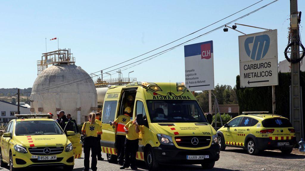 Muere un trabajador tras una fuga de amoníaco en la Pobla de Mafumet (Tarragona)