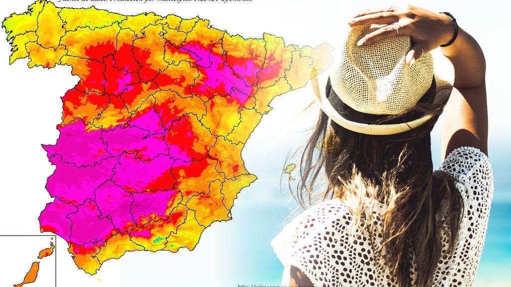 Llegaremos a los 38ºC: los sitios donde hará más calorazo el fin de semana, por zonas