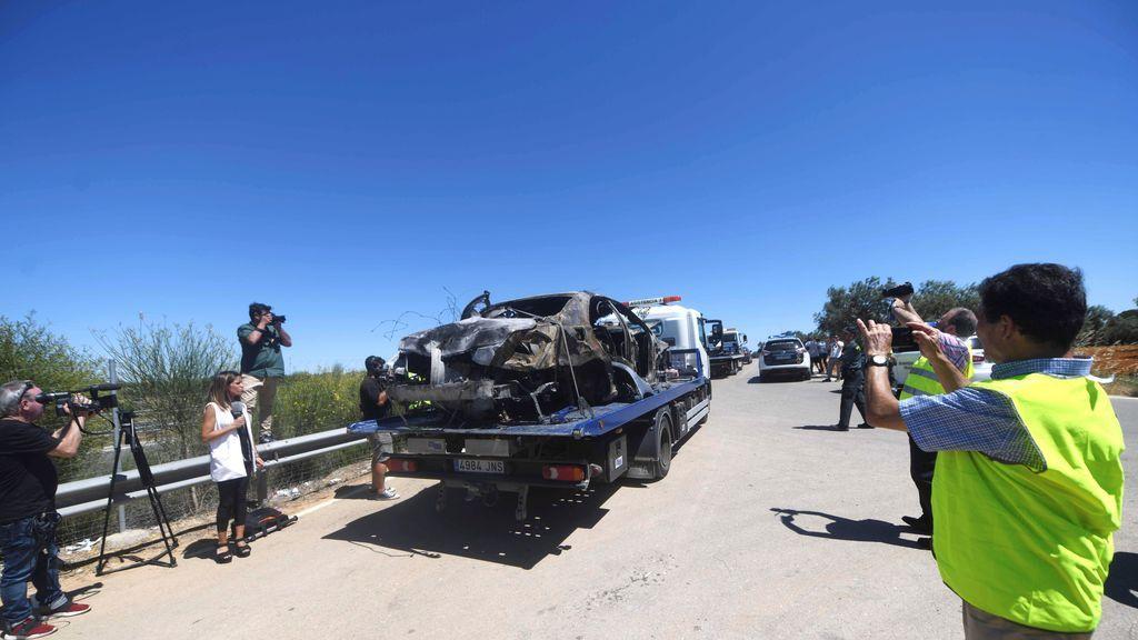 Impactantes imágenes del estado del coche accidentado en el que ha perdido la vida José Antonio Reyes