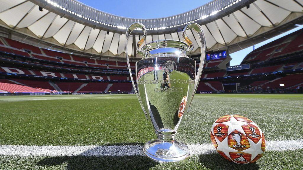 El trofeo de la Champions, abandonada en una esquina del túnel de vestuarios del Wanda Metropolitano