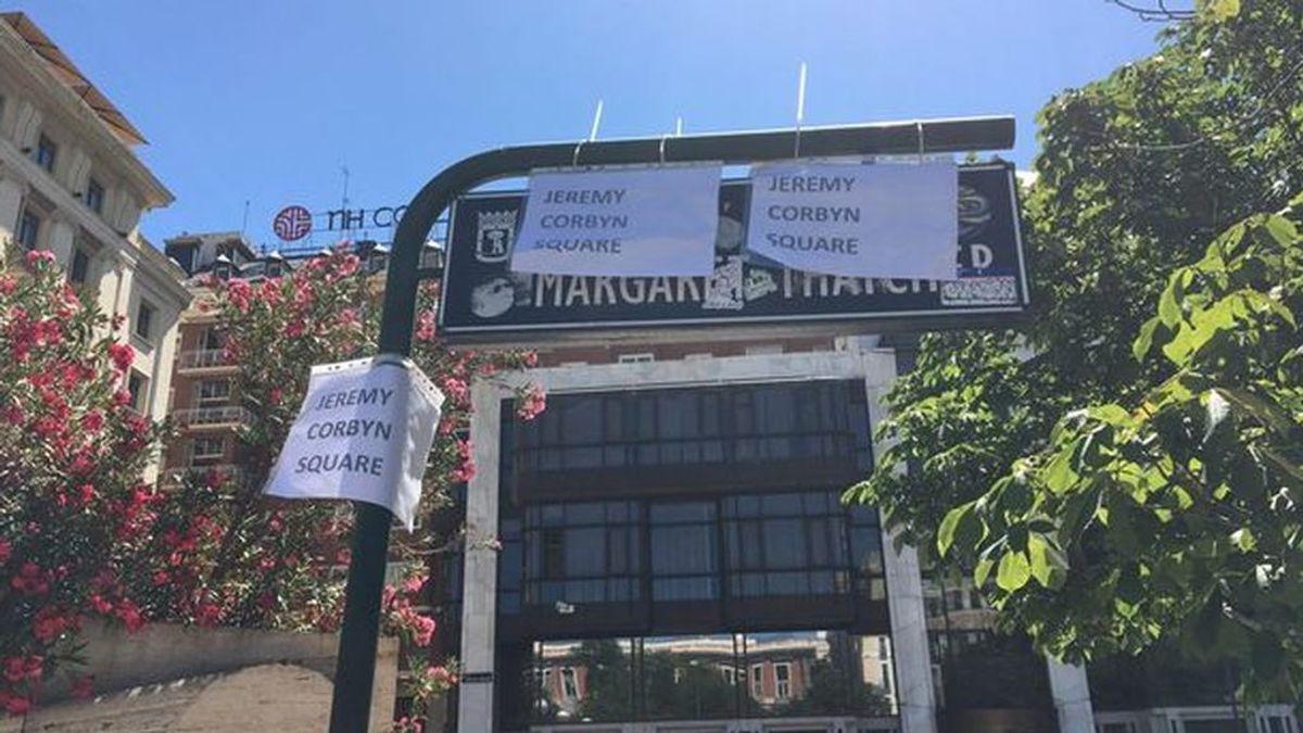 Fans del Liverpool cambian a Jeremy Corbyn el nombre de la plaza Margaret Thatcher