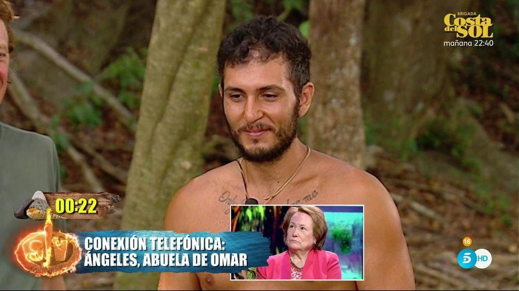 La emotiva conversación de Omar Montes con su abuela