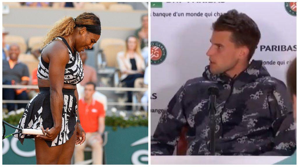 Serena Williams expulsa a Thiem de la rueda de prensa para no esperar tras su derrota en Roland Garros