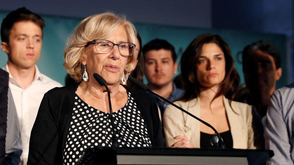 """Carmena promete """"un gobierno sin la ultraderecha en Madrid"""" tras el apoyo recibido ayer"""