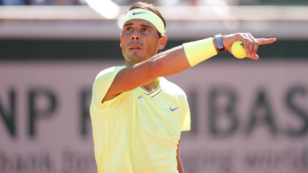 Nadal se encuentra con la lluvia ante Nishikori y  se queda a dos juegos de las semifinales