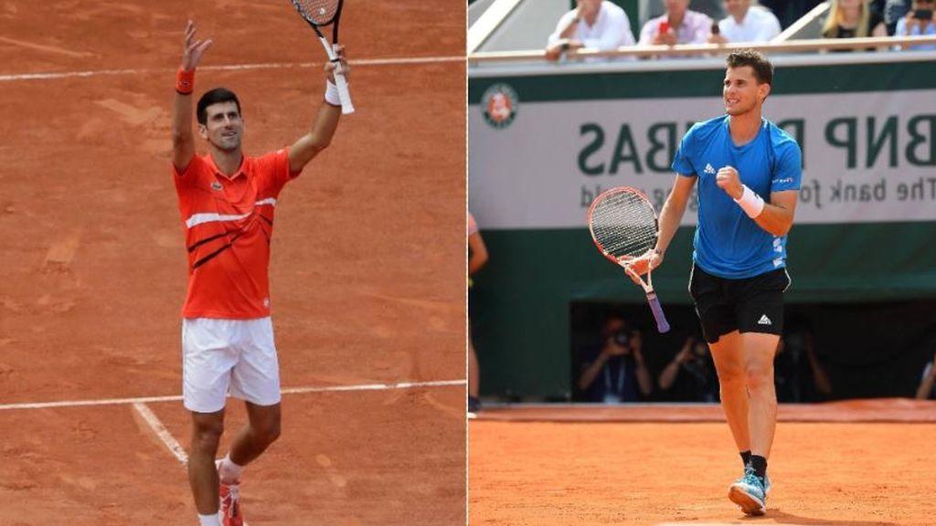 Djokovic sigue sin ceder un set y se enfrentará a Thiem en la otra semifinal de Roland Garros