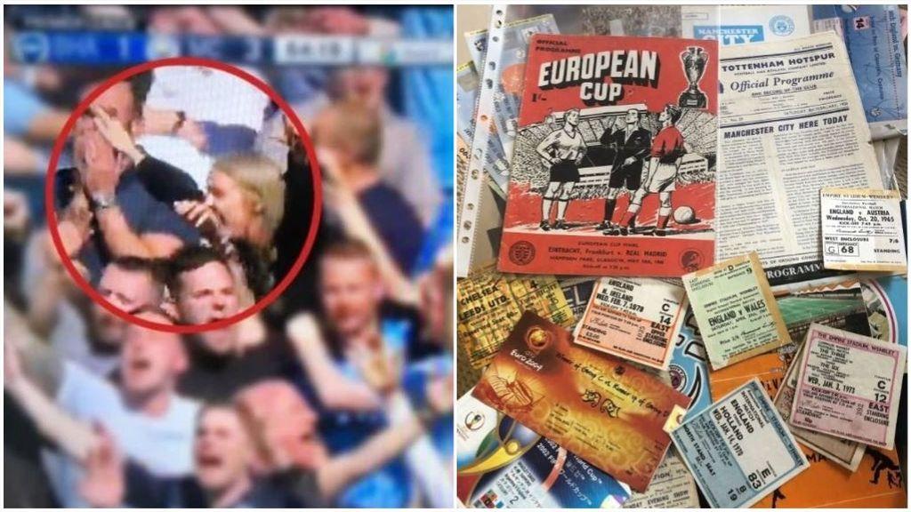 Una mujer se venga de su marido vendiendo su colección de fútbol valorada en 45.000€ tras verle en un partido con una chica