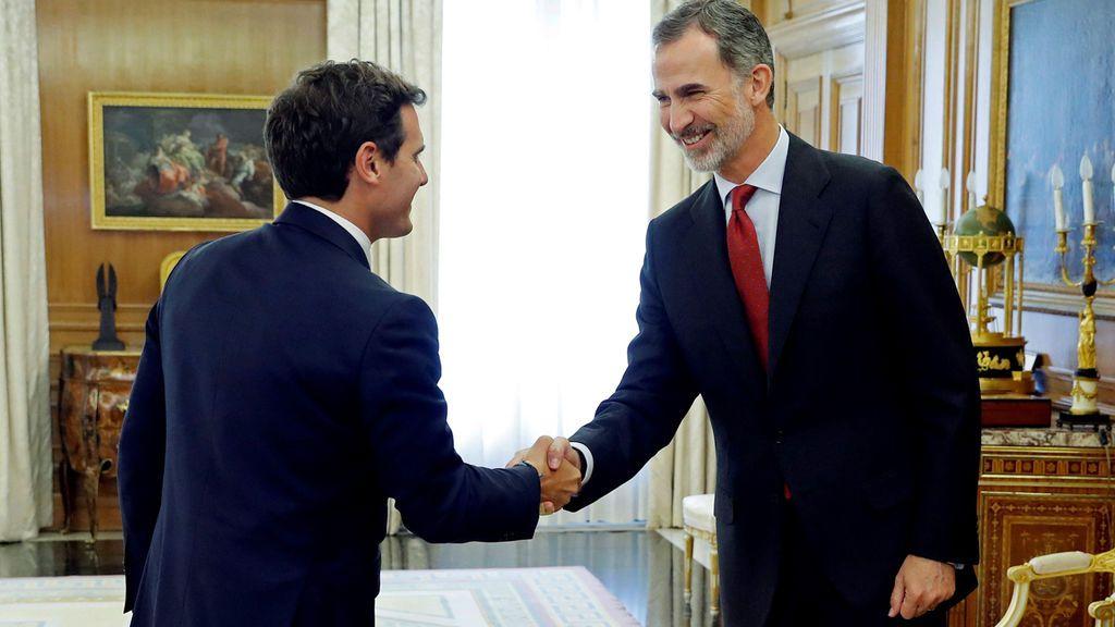 Albert Rivera, recibido por el rey Felipe VI en Zarzuela