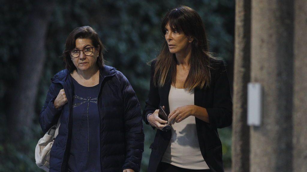 Las actrices Luisa Martín y Lydia Bosch, visiblemente afectadas