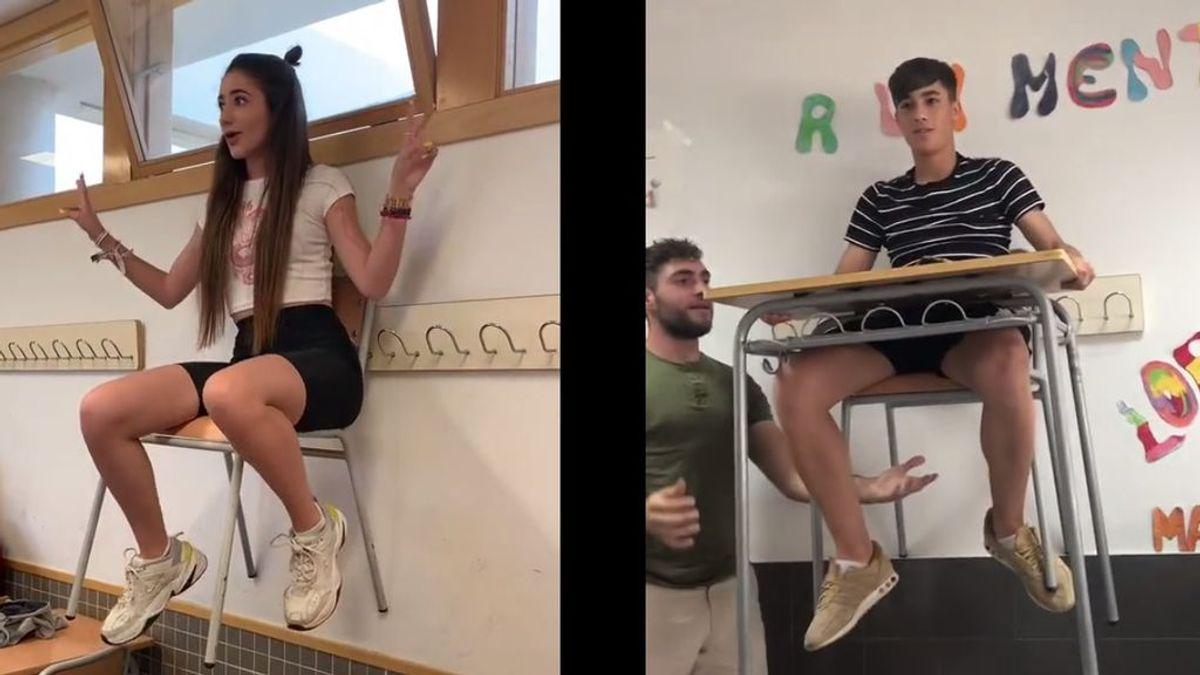 'Desk Challenge', el reto viral que consiste en hacer flotar tu pupitre en clase