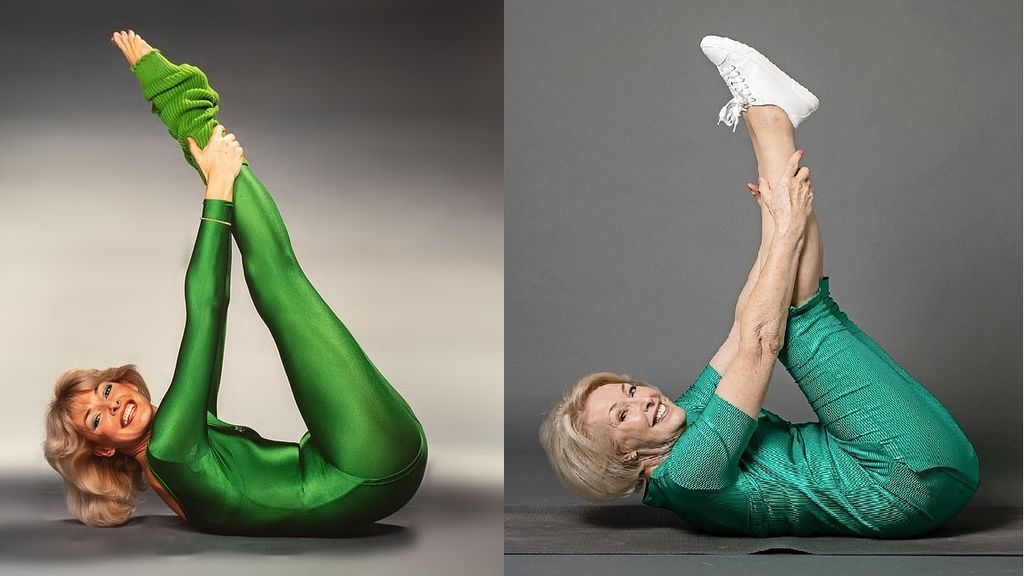 La reina del fitness de la televisión británica sigue en forma a sus 80 años