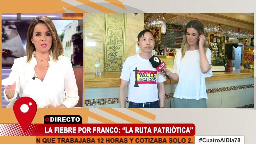 """Carme Chaparro corta la entrevista con Chen Xiangwei, """"el chino franquista"""", por sus continuos insultos"""