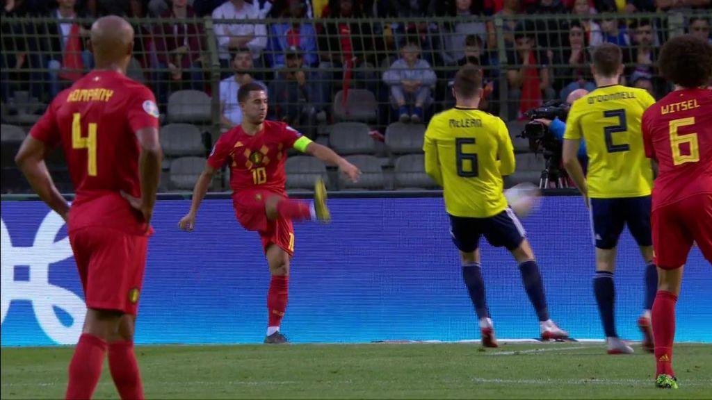 Gol de Lukaku tras una asistencia de guante blanco de Eden Hazard (1-0)