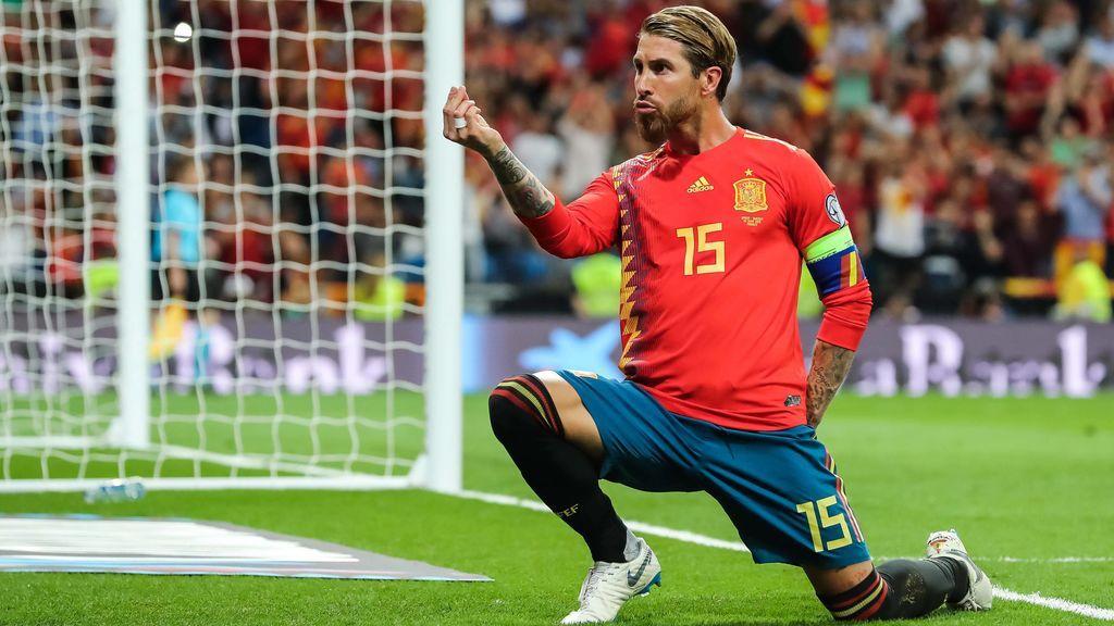 La especial dedicatoria de Sergio Ramos a su futura mujer tras marcar un penalti con la Selección