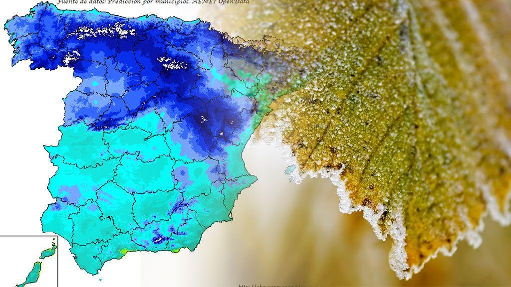 Hasta 15ºC por debajo de lo normal: las zonas donde podría haber récord por frío