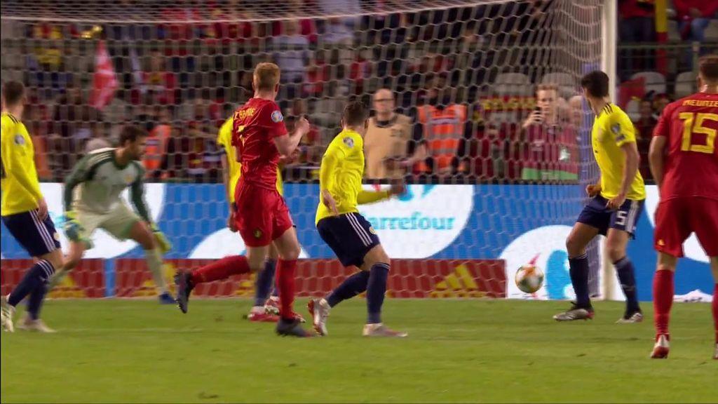 Golazo de De Bruyne para cerrar la victoria ante Bélgica (3-0)