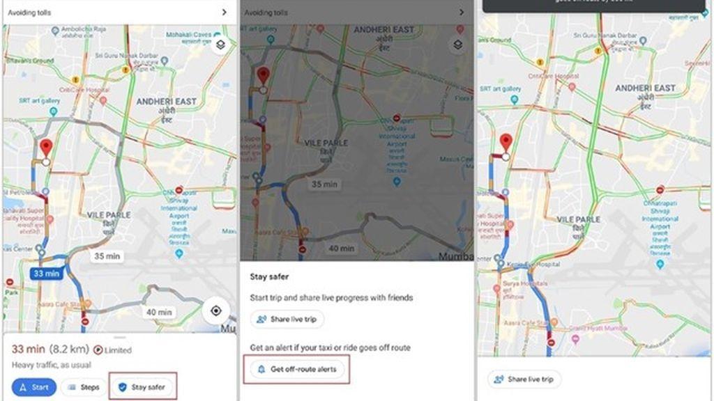 Google Maps avisará si un taxista se desvía de la ruta más rápida