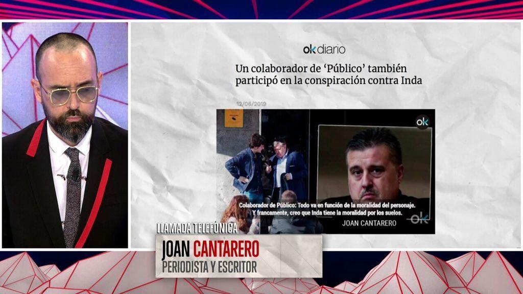"""Joan Cantarero y sus motivos para no avisar a Risto Mejide: """"Esto es periodismo, no son obras benéficas"""""""