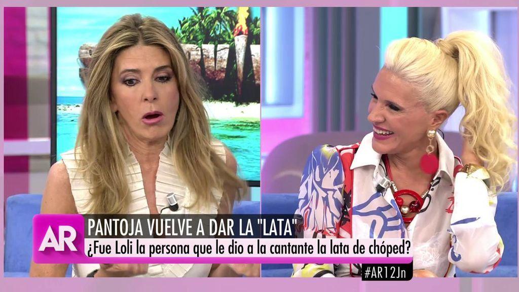 "Loli Álvarez se ríe cuando la acusan de dar la lata a Pantoja: ""Yo me comí las dos latas"""