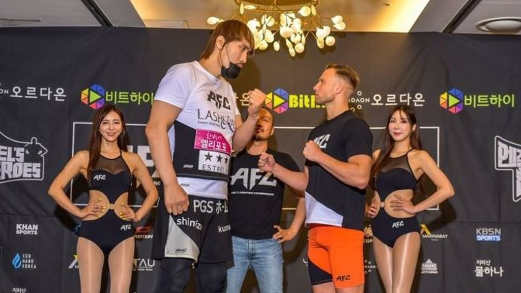 David contra Goliat: en 49 segundos deja KO a su rival en un combate de la MMA