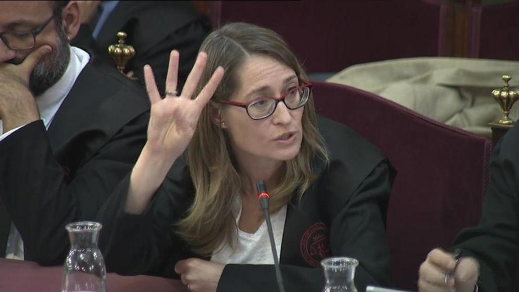 Marina Roig, defensora de Jordi Cuixart en el Supremo
