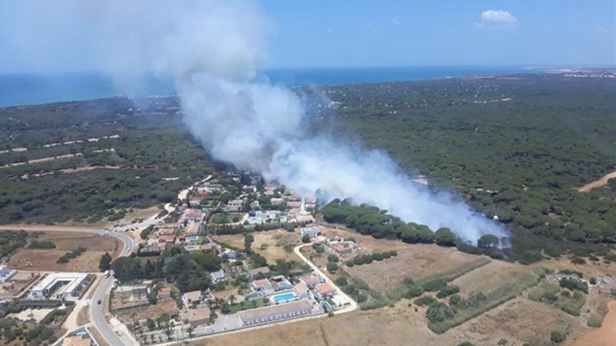 Declarado un incendio en el paraje de Roche, en Conil (Cádiz)
