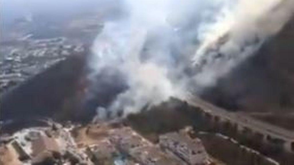 Declarado un incendio forestal en el paraje El Higuerón de Benalmádena
