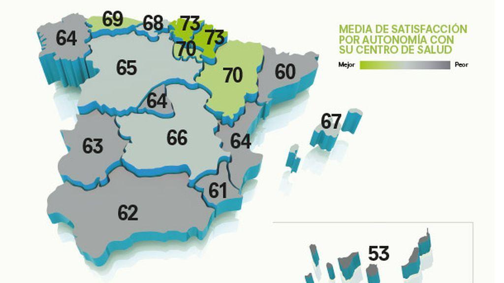 Mapa satisfacción por Autonomía