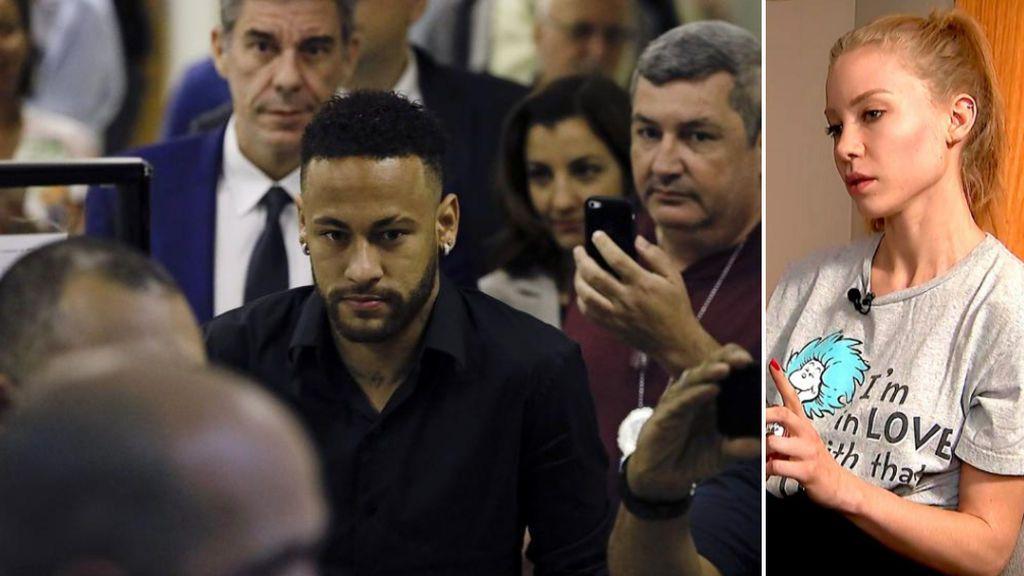 La Policía Civil de Brasil denuncia por calumnias a la modelo que acusa a Neymar de violación