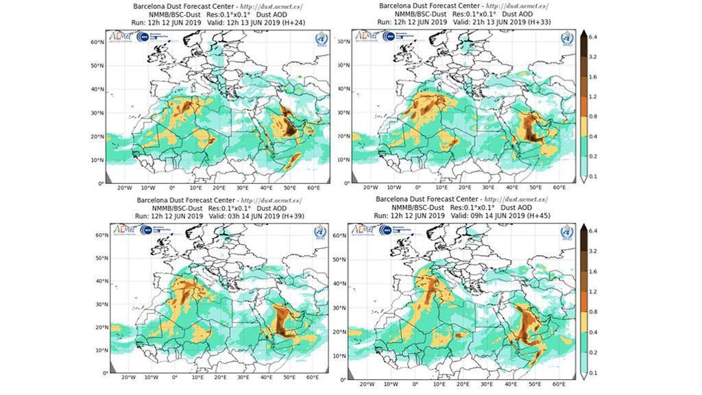Incursión de polvo del Sáhara entre el jueves y viernes, 13 y 14 de junio / Barcelona Dust