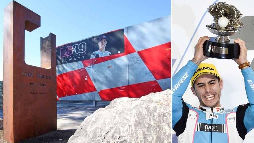 Luis Salom tendrá un monumento a su honor en la curva en la que perdió la vida en el circuito de Barcelona