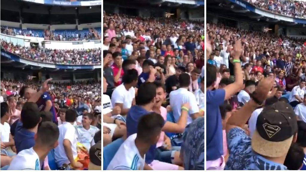 Un aficionado entra con la camiseta del Barça a la presentación de Hazard y acaba quitándosela ante los insultos del público