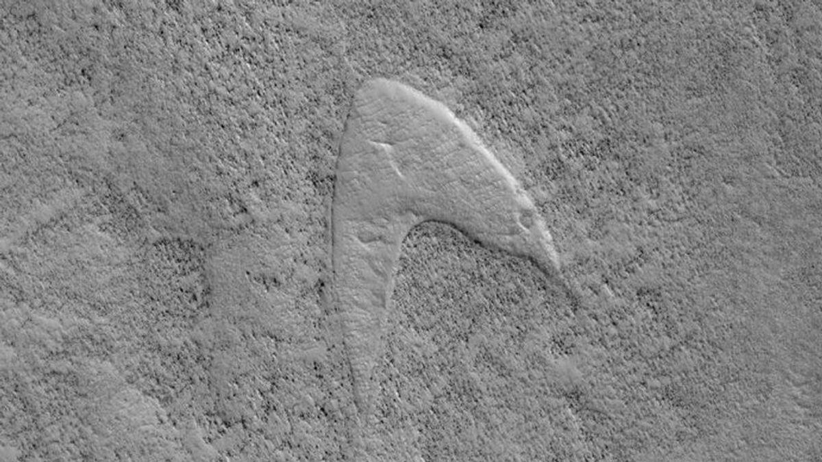 La NASA encuentra un logotipo de Star Trek en una duna de Marte