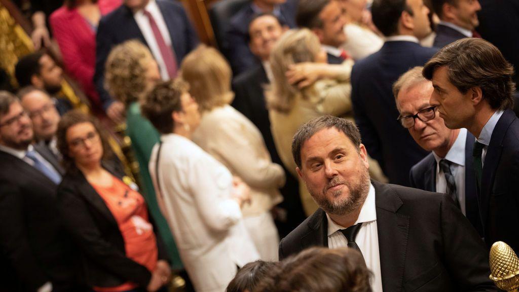Oriol Junqueras en su toma de posesión en el Congreso
