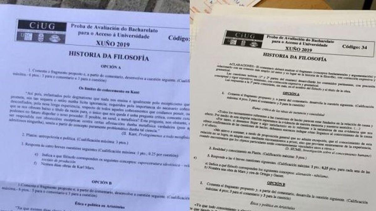 Diferencias y similitudes entre el antiguo y el nuevo examen de Filosofía en Galicia
