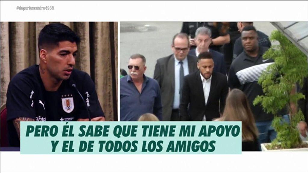 """El mensaje de ánimos de Luis Suárez a Neymar tras la denuncia por violación: """"Sabe que tiene mi apoyo"""""""
