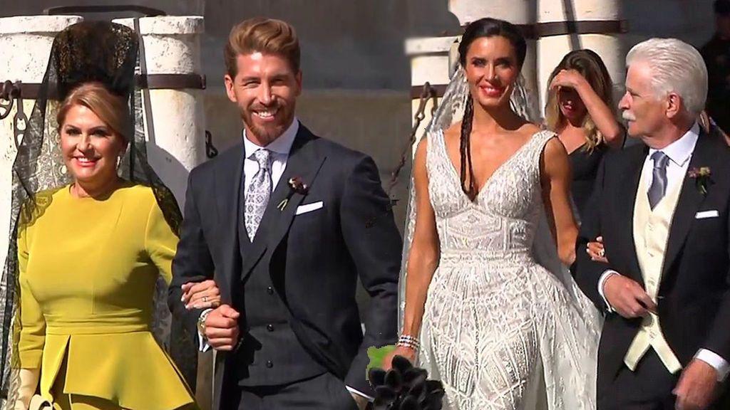 """La boda de Pilar Rubio y Sergio Ramos, minuto a minuto:  Los novios se dan el """"Sí, quiero"""""""