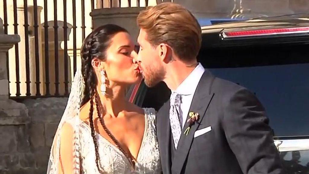 """Las primeras palabras de Ramos y Pilar Rubio en el día de su boda: """"un sentimiento único ver a la mujer que amas entrar de las manos de tus hijos"""""""