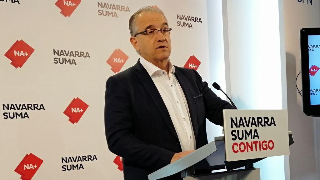 Enrique Maya, el candidato de Navarra Suma, nuevo alcalde de Pamplona