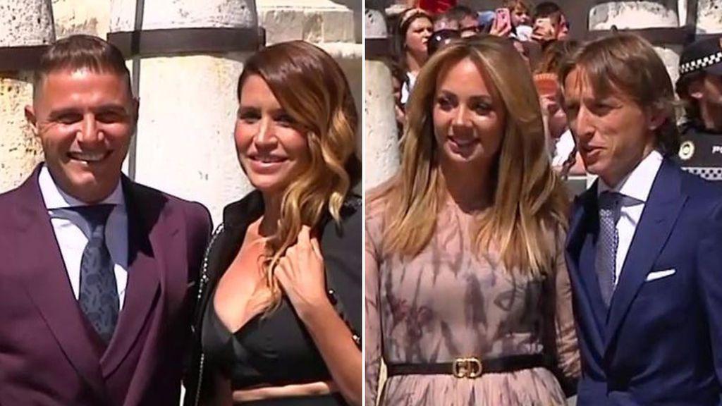 Joaquín, Beckham, Modric, Roberto Carlos... La llegada de los futbolistas a la boda de Ramos y Pilar Rubio