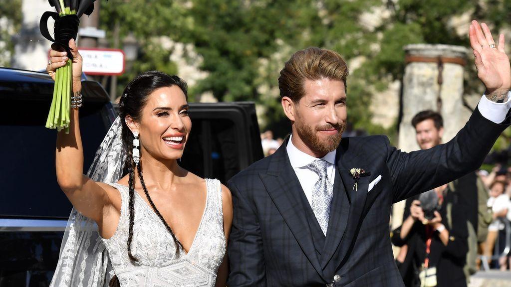 Besos, caricias y lágrimas: la salida de Pilar Rubio y Sergio Ramos como marido y mujer