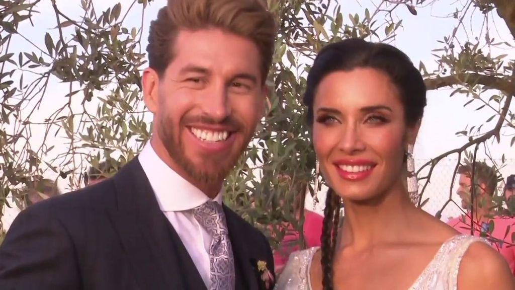 Sergio Ramos y Pilar Rubio volaron en dragón en su boda