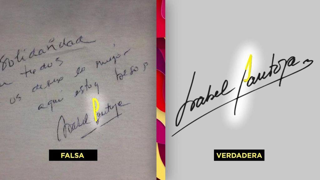 Una fan denuncia que Anabel Pantoja le habría dado un autógrafo falso de Isabel
