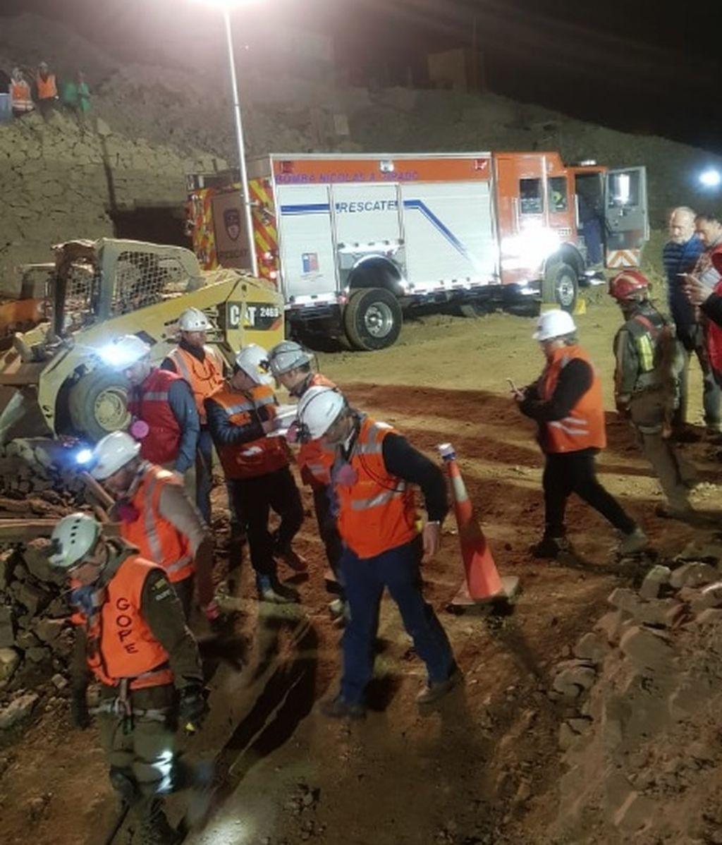 Mina de San José de Tocopilla: Rescatan a un minero con vida, un fallecido y otro continúa desaparecido