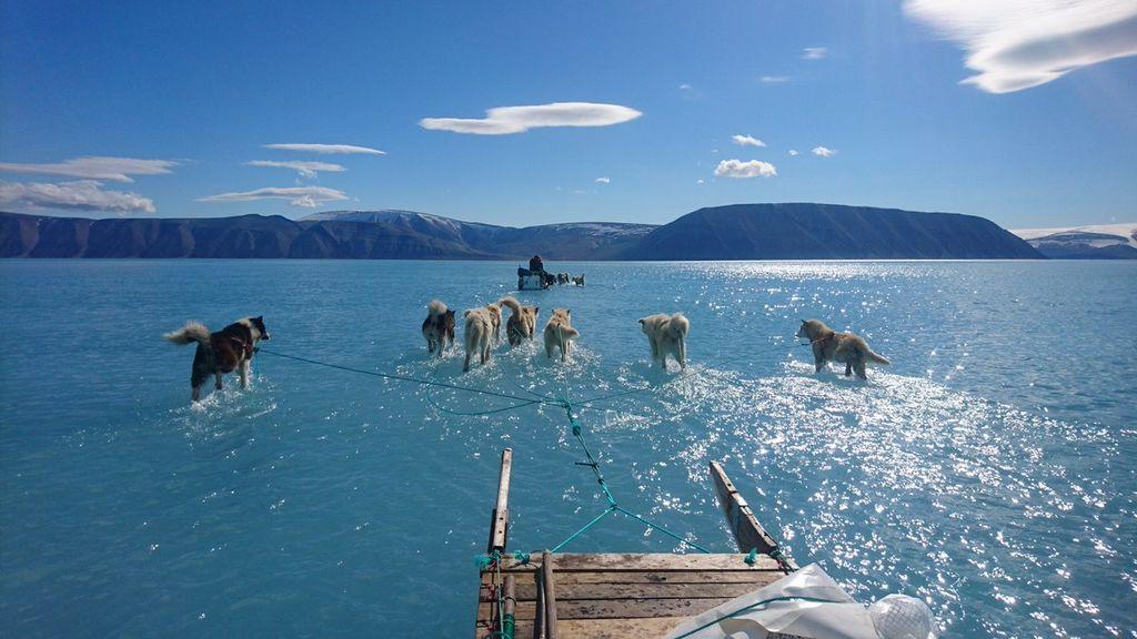El calentamiento global, capturado en una imagen