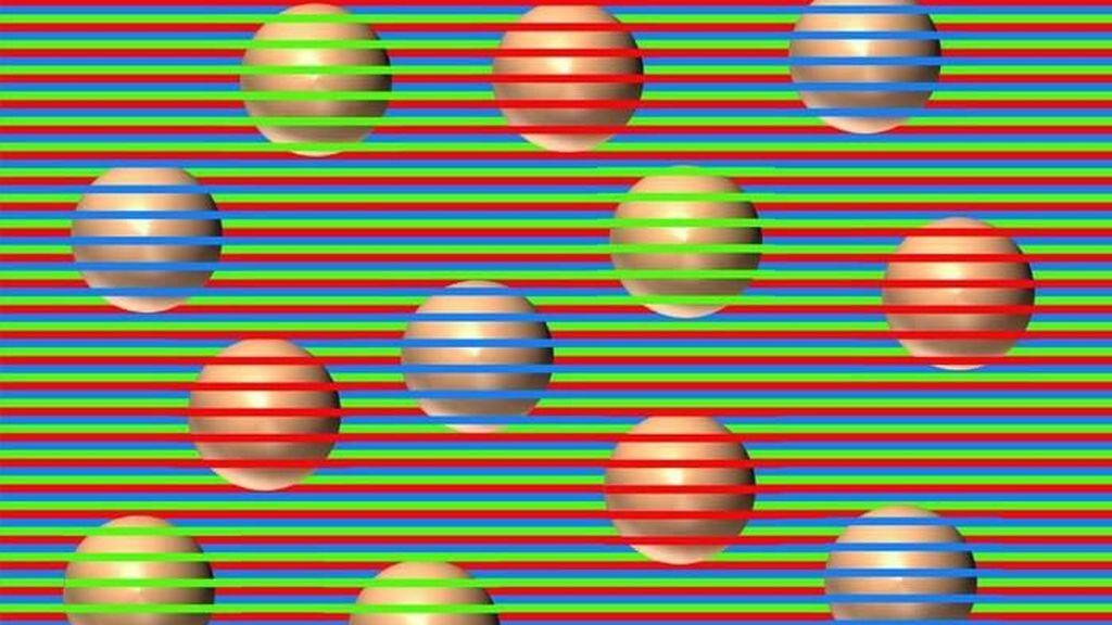 Naranjas, verdes o moradas: todas las esferas son del mismo color pero tu vista te engaña