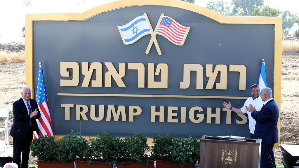Netanyahu inaugura la colonia judía Altos de Trump en los Altos del Golán sirios