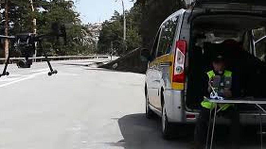 Intercerptado en A Coruña un conductor por ir a 157 km/h en un tramo limitado a 50