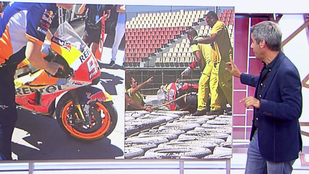 Marc Márquez y Jorge Lorenzo han sufrido caídas en el test de Montmeló