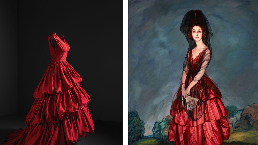 vestido rojo con zurbaran xxxxx